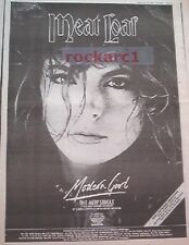 MEAT LOAF Modern Girl 1984 UK Poster size Press ADVERT 16x12 inches