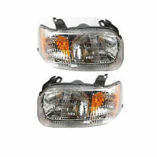 New Head Lamp Assembly Set of 2 Left & Right Side Fits 2001-2004 Ford Escape