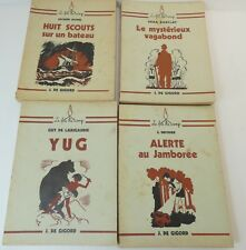 """Lot  4 livres scoutisme de la collection """"Le feu de camp"""": / cc"""