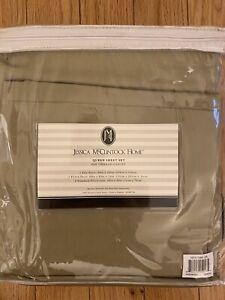 NEW Jessica McClintock Queen sheet set 600 thread count egyptian cotton Sateen