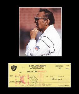 WOW! Al Davis Signed Autographed Oakland Raiders Check w/Photo & 11x14 Mat JSA