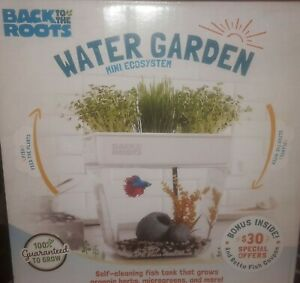 NEW - Back To The Roots WATER GARDEN - Tabletop Self Cleaning Fish Tank Plants