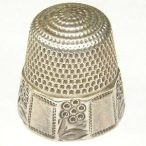 Antique Victorian Sterling Silver Thimble Hallmarked For Birmingham G 12