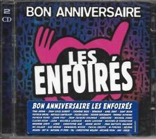 DOUBLE CD BON ANNIVERSAIRE LES ENFOIRÉS GOLDMAN/OBISPO/NOLWENN LEROY/ZAZIE NEUF
