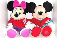 Disney Store Mickey Minnie Mouse Christmas PJs Plush Toy Exclusive Original New