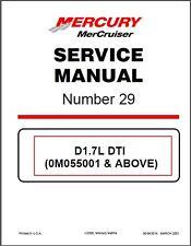 2000-2016 MerCruiser # 29 Sterndrive D1.7L DTI In‑Line Diesel Service Manual CD