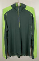 Patagonia Green Merino Wool 1/4 Zip Pullover Sz XL Long Sleeve Baselayer Top