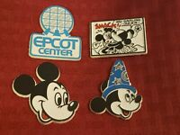 Vintage Disney Epcot Center Sorcerer Mickey Mouse Minnie Fridge Magnets Lot of 4