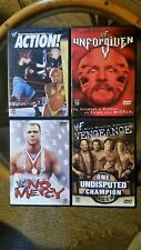 WWF DVD 2001 LOT OF 4...WWF ACTION,  UNFORGIVEN, NO MERCY, VENGEANCE OOP