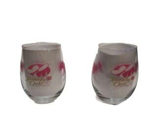 Kentucky Oaks Lily Stemless Wine Glasses 2019 Set of 2