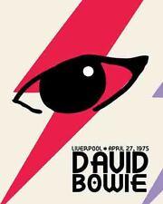 David Bowie   rare 1975  Concert Liverpool UK England   Tour  Promo Poster