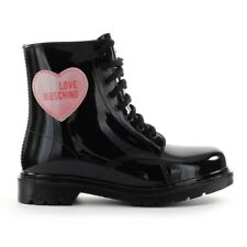 Women's Shoes Love Moschino Black Rubber Combat Boot FW2020
