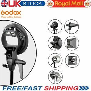 Godox S-Type Bracket Bowens S Mount Holder Fit T+L Speed Ring Softbox Speedlite