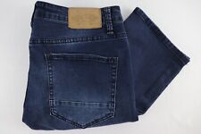 Native Jeans Mens Straight Leg Mid Rise Dark Wash Stretch Comfort W34 L32 New