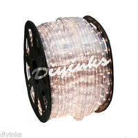 Warm White LED Rope 150ft 110V 2 Wire Flexible DIY Lighting Outdoor Christmas