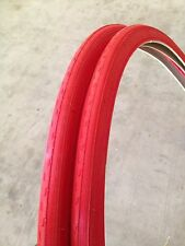 26x1-3/8 RED-bicycle Tires (2xTires & Tubes)ISO:590 Roadster Bikes
