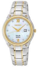 Seiko SUT214 SUT214P1 Ladies Solar Diamond Watch two-tone NEW RRP $595.00