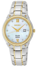 Seiko SUT214 SUT214P1 Ladies Solar Diamond Watch two-tone WR100m NEW RRP $625.00