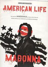 Madonna  American Life US  Sheet Music