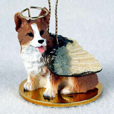 Welsh Corgi Ornament Angel Figurine Hand Painted Pembroke