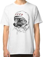 Laika, Space Traveler Men's White Tshirt Tees Clothing