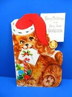 "Christmas Vintage UNUSED ""....To a Very Dear Grandson""  Card/env. - Free Ship"