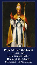 Pope Saint Leo the Great Prayer Card (wallet size)
