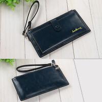 Ladies Womens Leather Zipper Coin Card Long Wallet Clutch Purse Handbag Bag