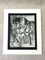 1900 Cricket Print Match Cricketers Sports Original Antique