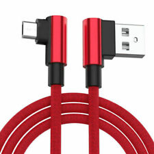 Red L-Shape Braided Data Sync Charging Cable For HP iPAQ Data Messenger