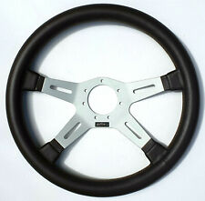 OBA Sports Steering Wheel Brown Genuine Leather 37cm Made In Italy