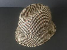 VINTAGE MID CENTURY MENS FILIPPO CATARZI WOOL TWEED TRIBLY HAT MADE IN ITALY