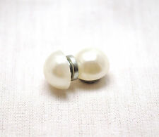 SALE: UNISEX 10 MM WHITE PEARL HEALING MAGNETIC THERAPY STUD EARRINGS: 4 Pain!