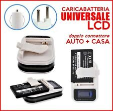CARICABATTERIA BATTERIE LCD UNIVERSALE AUTO ACCENDISIGARI CARICABATTERIE USB