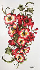 King Horse A Bundle of Beautiful Trumpet Flowers Temporary Tattoos HM407