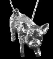 Piglet Pendant with Chain, Sterling Silver, Custom-Made!  Unique!  Cute Piece!!