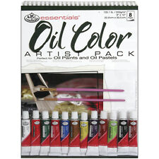 ART SET A4 Spiral bound Oil Colour painting Pad 12 tubes paint & 2 brushes RD506