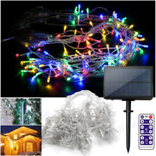 Solar LED Christmas Light Icicle Fairy Outdoor Indoor Holiday Xmas Home Decor