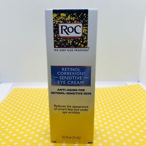 RoC Retinol Correxion Sensitive Eye Cream Anti-Aging 0.5 oz