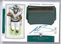 2019 NATIONAL TREASURES MILES SANDERS AUTO RPA /99 4CLR PATCH