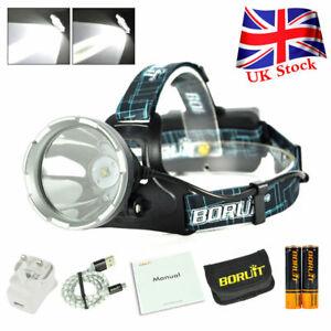 BORUiT B10 XM-L2 LED Headlamp USB Rechargeable Head Light Torch Lamp Waterproof
