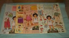 "4 Sheets Mary Engelbreit Magazine ""Georgia"" Paper Dolls (8 1/2 x 11) Uncut"