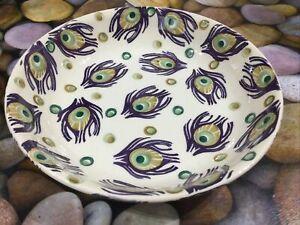 Emma Bridgewater Liberty Purple Peacock Pasta Bowl Dish New Best Discontinued