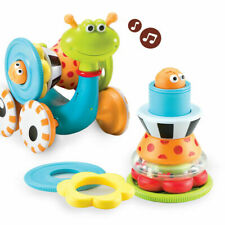 Yookidoo Crawl N Go Snail Baby Activity Muscial Toy Rattle Age 6-24 Months New