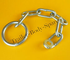 FREE UK Post - Trailer Safety Ring & Coupling Chain for unbraked trailers