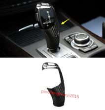 Real Carbon Fiber Gear Lever Shift Knob Cover Trim For BMW X5 X6 E70 E71 08-14