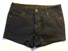 Wax Jeans Womens Shorts Medium 5 Pocket Dark Wash Cotton Blend