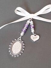"Wedding Bouquet Photo Charm Oval Silver Bouquet Locket ""mum"" charm"