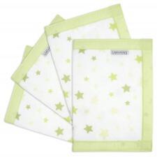 Airwrap Maille Lit D'Enfant Protection - 4 Coté (Vert Stars) Berceau / / Bébé