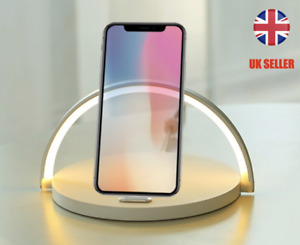 Wireless Qi Charger Night Light Fast 10W  Mobile SE 2 11 Pro Max XR X